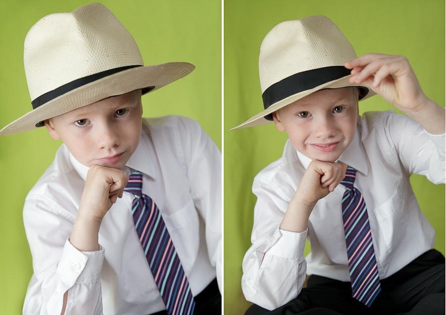 Strákurinn með hattinn